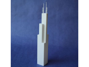 Willis Tower in White Strong & Flexible