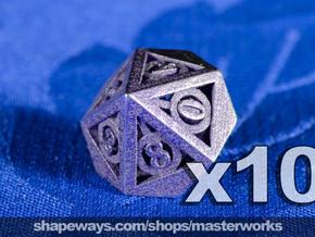 Deathly Hallows 10d10 Set in Stainless Steel