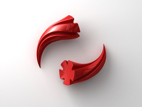 Cosplay Horns in Red Strong & Flexible Polished
