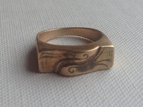 Spirit Of the Wind Ring in Raw Bronze