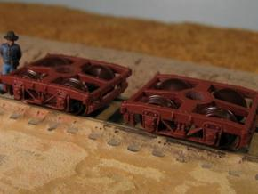 T30b 8 N wood beam trucks, Civil War USMRR, Bach in Frosted Ultra Detail