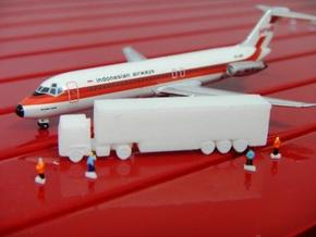 Airport GSE 1:400 Truck Trailer  in White Strong & Flexible Polished