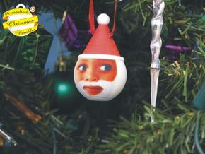 Father Christmas Bauble (Personalize) 3D printed in Full Color Sandstone