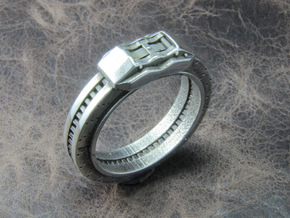 Disc brake Ring in Polished Silver