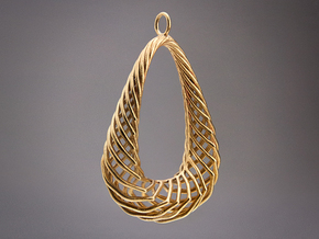 Pendant 001 in Raw Bronze