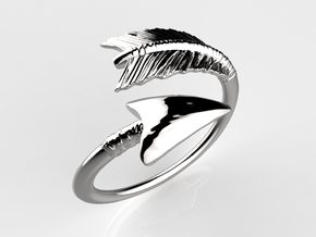 Spiral Arrow Ring in Polished Silver