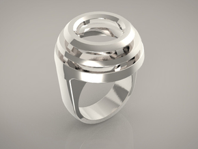 DOME RING - SIZE 8 in Polished Silver