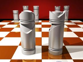CHESS ITEM BISPO / BISHOP in White Strong & Flexible