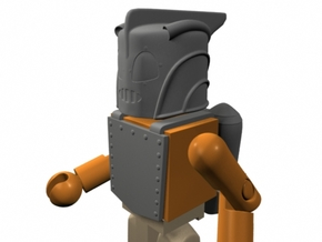 Rocketeer Helmet & Jetpack for Minimates (w/front  in Frosted Ultra Detail