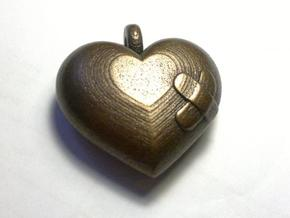 Wounded Heart Pendant in Stainless Steel