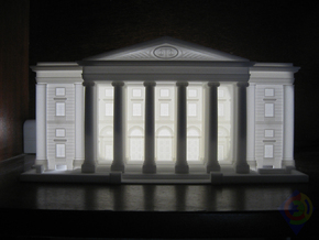 The Law Court Façade  in White Strong & Flexible