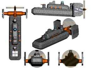 Triple Empire Destroyer 1:600 x4 in White Strong & Flexible