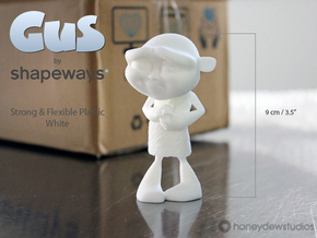 Gus Figurine - Medium - Plastic in White Strong & Flexible