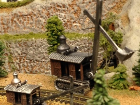 Steam Shovel N Scale in Frosted Ultra Detail