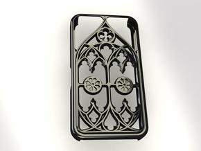 iPhon 4/4s case Gothic style in White Strong & Flexible