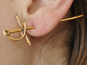 Rapier Earrings (17th c. Sword) in Raw Bronze