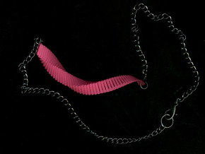 Arithmetic Necklace (Bar) in Pink Strong & Flexible Polished