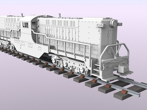 Baldwin DT6-6-2000 Center Cab N Scale 1:160 in Frosted Ultra Detail
