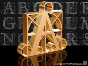 A - DURER (50%) in Polished Gold Steel