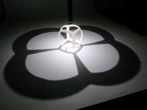 Cube (stereographic projection) in White Strong & Flexible