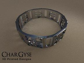 Bangle - Four Petal Flower in Frosted Ultra Detail