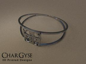 Elegant Bangle - Four Petal Flower in Frosted Ultra Detail