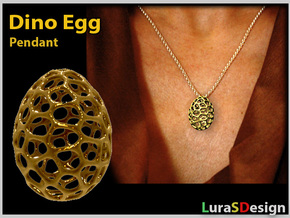 Dino Egg Pendant in Stainless Steel
