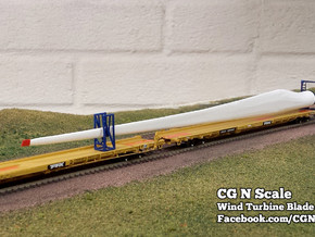 N Scale Wind Turbine Mounts - 3 Pack (Part 1 of 2) in Smooth Fine Detail Plastic