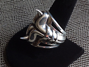 Horn Ring - Size 12 (21.39 mm) in Polished Silver