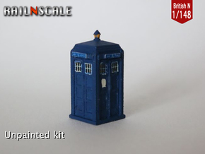 TARDIS / Police box Mk2 (British N 1:148) in Frosted Ultra Detail