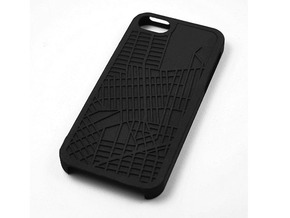 Greenpoint Brooklyn Map iPhone 5/5s Case in Black Strong & Flexible