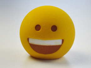 3D Emoji So Happy! in Full Color Sandstone