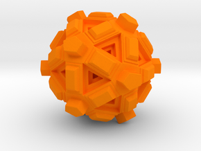Amaze-ball in Orange Strong & Flexible Polished