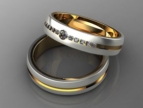 #255 Wedding Rings for Man and Woman in 14K Gold