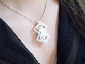 """head to head, heart to heart"" LASTIME, pendant in White Strong & Flexible"