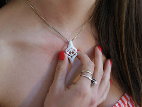 """""""head to head, heart to heart"""" HEARTY, pendant in White Strong & Flexible"""