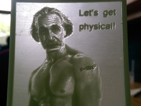 Einstein's hanging lithophane Meme in White Strong & Flexible