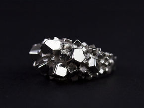 Crystal Ring size 7 in Platinum