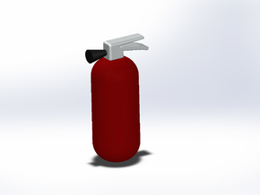 1:10th scale fire extinguisher in Red Strong & Flexible Polished