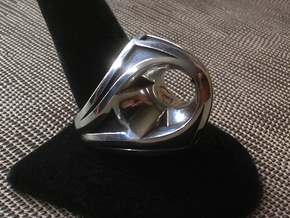 Portal Ring - Size 12 (21.39 mm) in Polished Silver