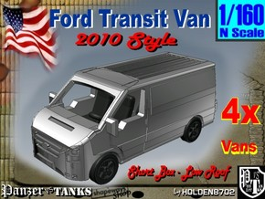 1-160 4x Ford Transit Van 2010 in White Strong & Flexible