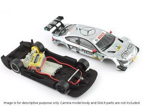 S03-ST1 Mercedes C-Klasse DTM Chassis STD/LMP in White Strong & Flexible Polished