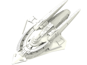 Bowersock Class Battleship in White Strong & Flexible