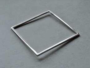 Square Bracelet Small in Polished Nickel Steel