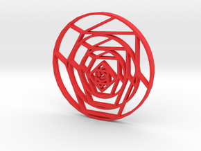 Cubist Rose in Red Strong & Flexible Polished