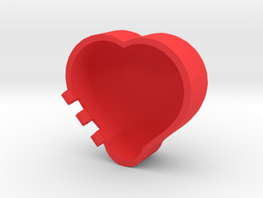 Rounded Heart Box in Red Strong & Flexible Polished