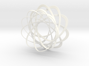 Mobius strips, intertwined in White Strong & Flexible Polished