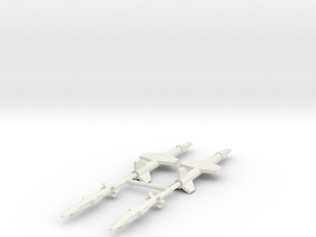 1/285 Experimental Aircraft Set 5 in White Strong & Flexible