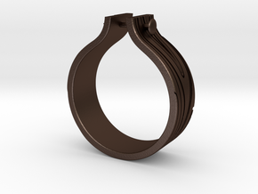 WOOD & NAIL Ring in Matte Bronze Steel