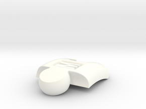 PuzzlelinkletterM in White Strong & Flexible Polished